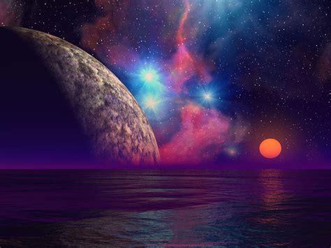 Coon Lights Wallpapers Alien Sunset Wallpapers