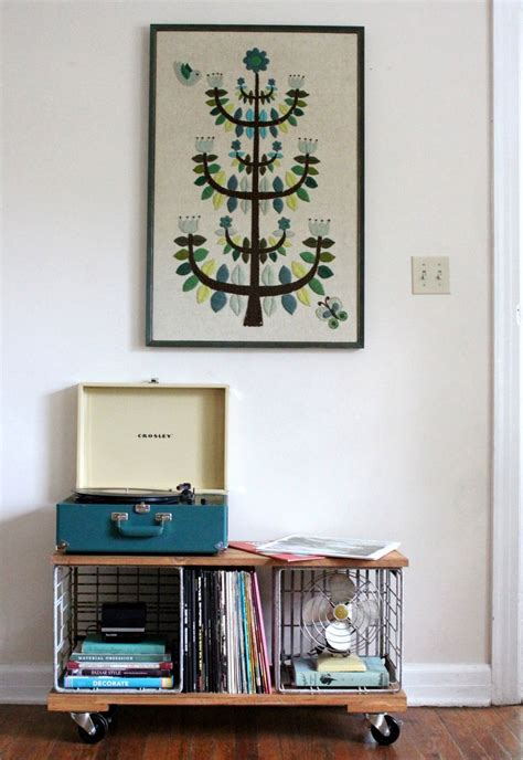 diy record player cabinet d i y industrial record cabinet a beautiful mess
