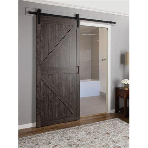 Indoor Barn Door Erias Home Designs Continental Mdf Engineered Wood 1 Panel Interior Barn Door Reviews Wayfair