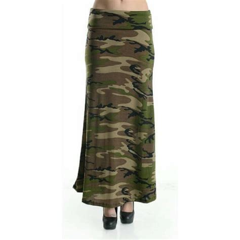 camouflage maxi skirt