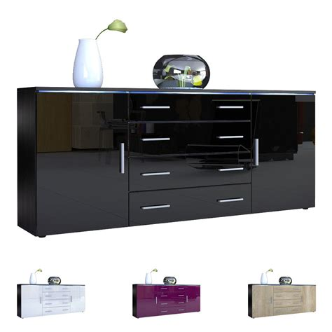 Modern Sideboard Buffet Server Storage Cabinet Chest Faro Black Modern Buffet