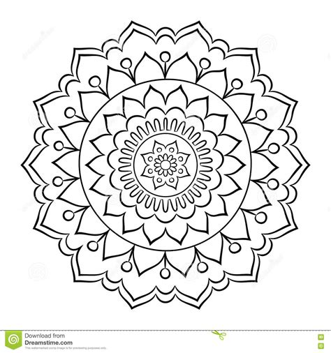 round mandala coloring pages doodle mandala coloring page stock vector illustration