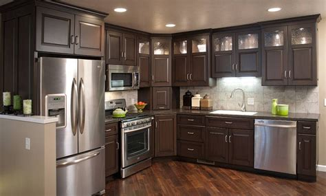Kitchen Cabinet Gallery by Mullet Cabinet Brown Condominium Kitchen