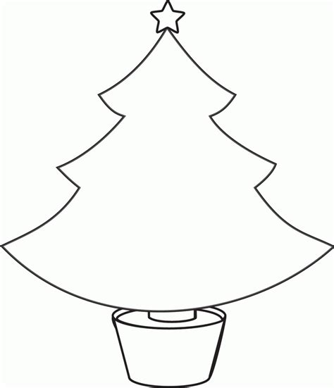 plain christmas tree coloring home