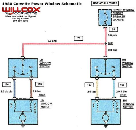 1980 corvette wiring diagram 1980 1982 corvette power window schematic willcox