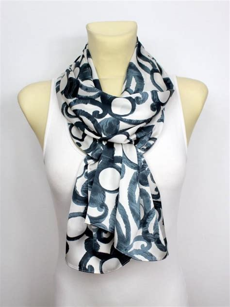 Handcrafted Scarves - geometric printed scarf autumn fashion scarves unique