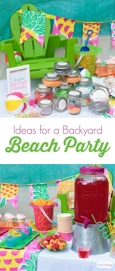 backyard beach party backyard beach party ideas atta girl says
