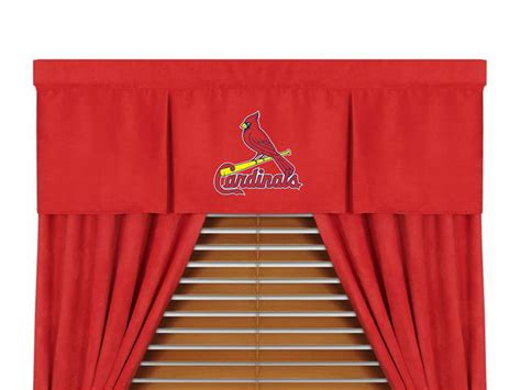 st louis cardinals curtains st louis cardinals mlb microsuede window valance