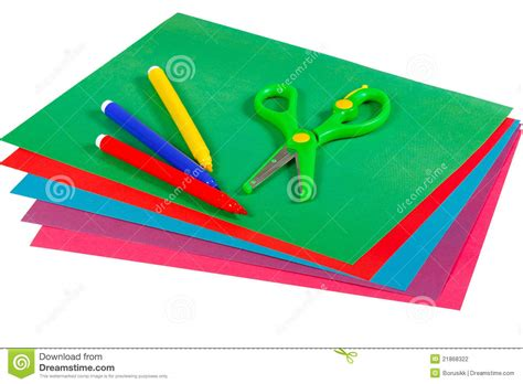 markers that only write on paper white paper with colorful felt pen markers royalty free