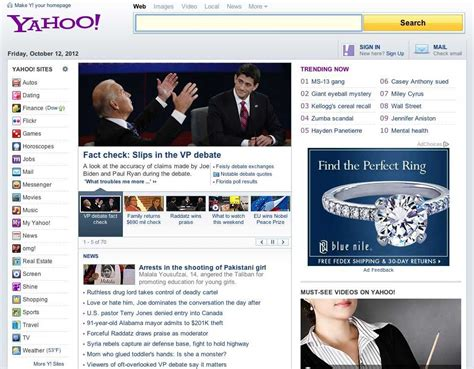 yahoo s testing new home page design drops purple yahoo logo