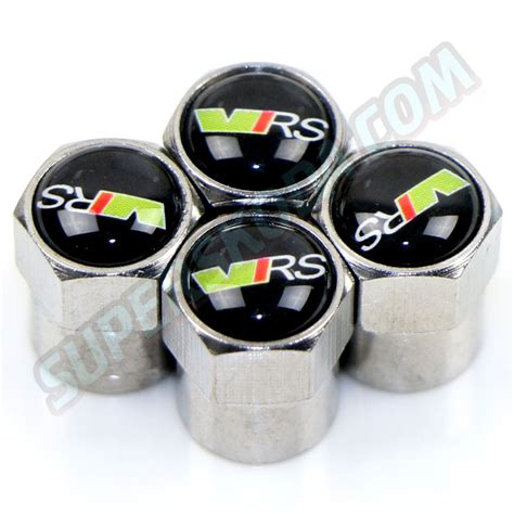 skoda tyres valve tyre caps 4pcs set vrs superskoda