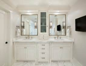 Vanity Top And Cabinet White Mediterranean Bathroom Design Interior Applied White