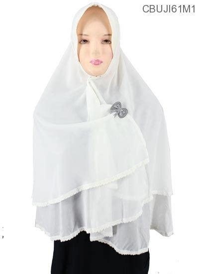 Khimar Sifon 2 Layer khimar sifon kinara renda layer jilbab pashmina murah batikunik