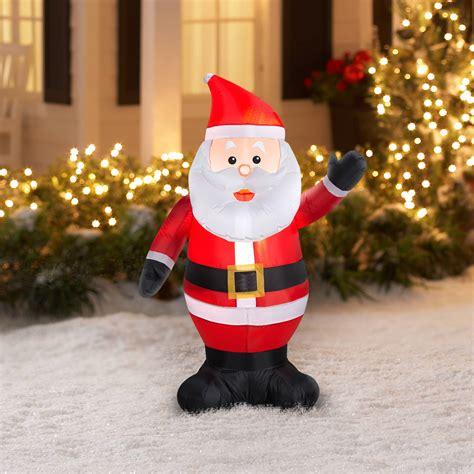 waving santa christmas lights 4 airblown inflatable waving santa christmas walmart com