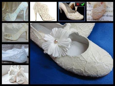 como decorar zapatillas de esparto para comunion forrar zapatos con encaje de novia o comunion igual que el
