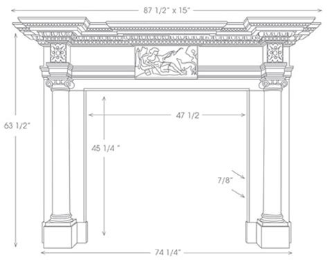 Mantel Shelf Height by St Marble Mantel Marble Surrounds