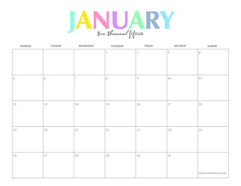 printable online calendar january 2015 5 best images of free cute printable january 2015 calendar