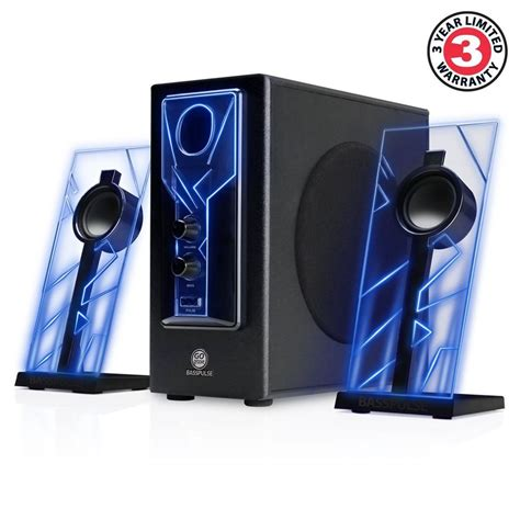 Speaker Laptop Bass gaming glowing computer speakers desktop surround sound audio system bass subwoo ebay