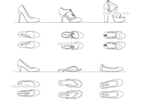 2d drawing free s shoes dwg free cad blocks