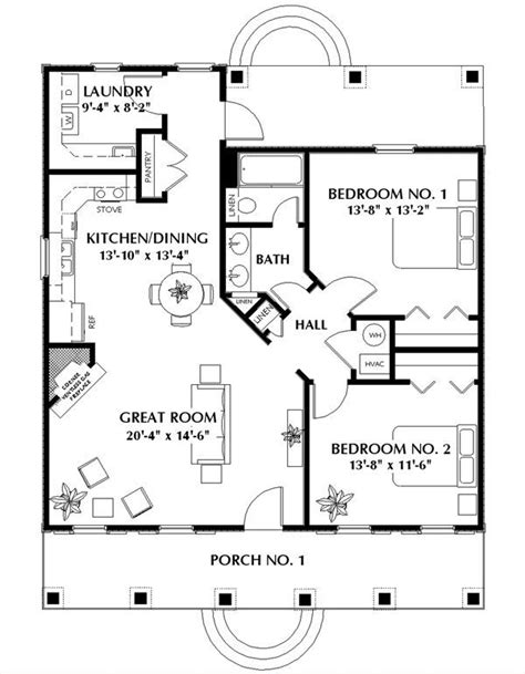 2 bedroom cottage plans 25 best ideas about small house layout on pinterest