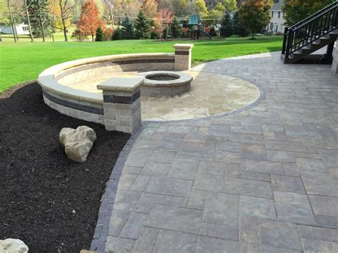 unilock patio and pit patio ideas