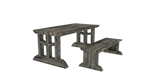 medieval bench medieval furniture bench table 3ds free