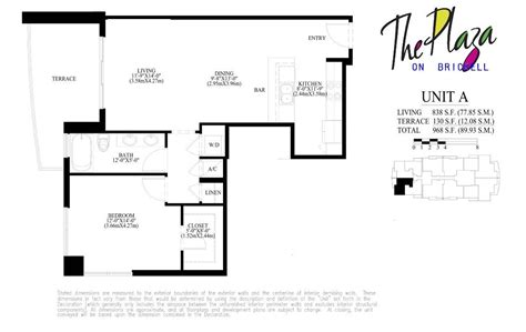 the plaza floor plans the plaza floor plans plaza on brickell floor plans