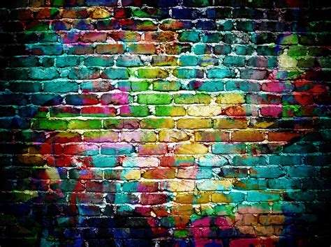 Brick Wallpaper With Graffiti | brick wall graffiti personalise our wallpaper with your