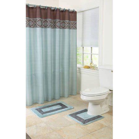 mainstays blue ashville 15piece bath in a bag set shower