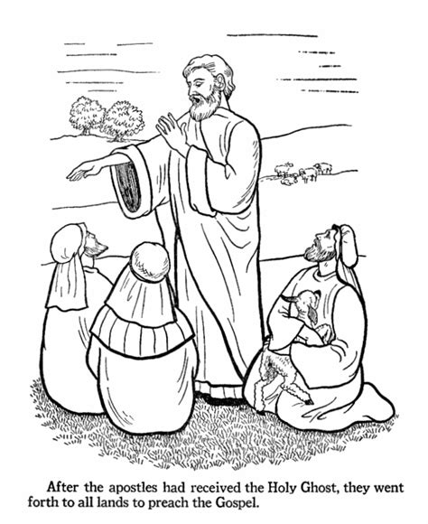 coloring page of jesus preaching bible easter coloring pages bluebonkers 9 apostles go