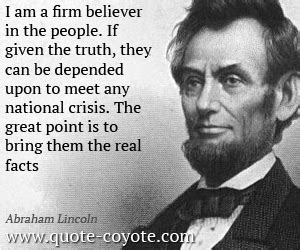 abraham lincoln myths and truths quotes quote coyote