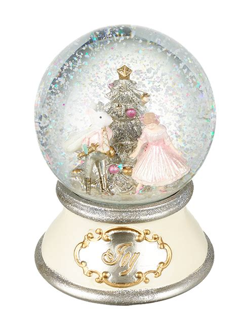 heaven sends nutcracker music box snow globe christmas