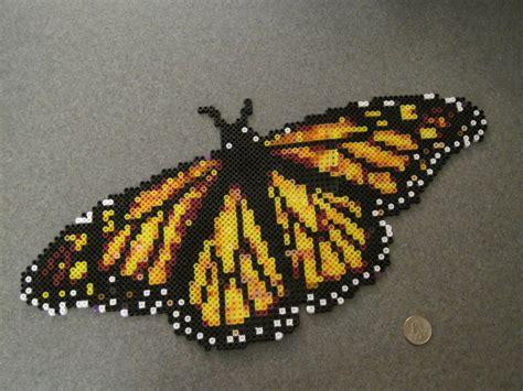 perler butterfly perler bead monarch butterfly by supermrholmes on deviantart