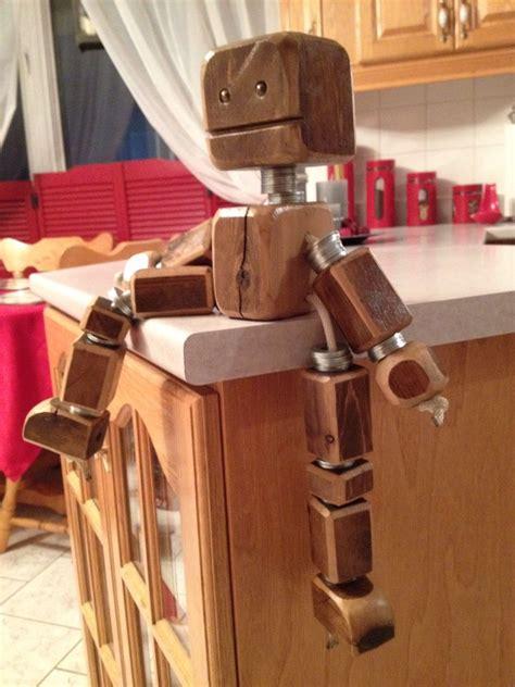 scrap wood robot decoration  kids room scrap wood
