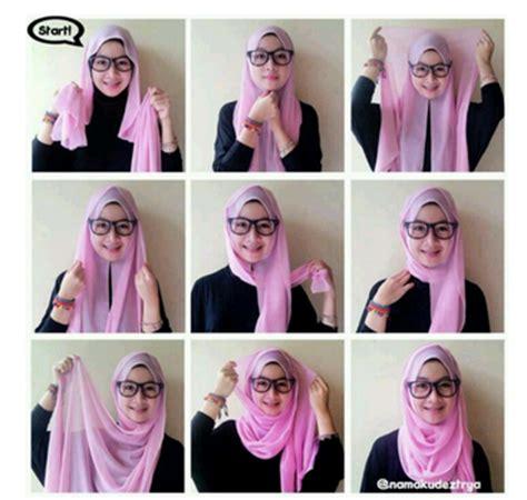 tutorial dan contoh gambar wpap contoh model gaya hijab terbaru simple dan gambar