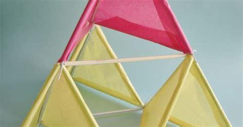 tetrahedron kite template tetrahedral kite science project stem fair