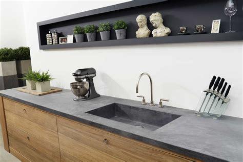 betonnen keukens stoere houten keuken met betonnen aanrecht tinello