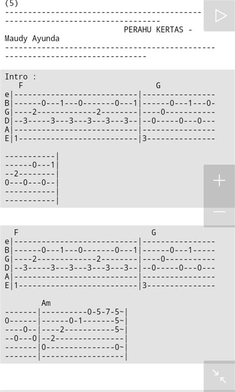 tutorial gitar maudy ayunda perahu kertas full edition tab maudy ayunda perahu kertas ost