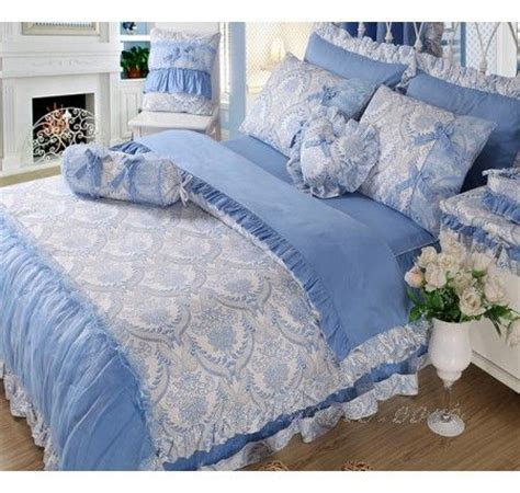 blue ruffle bedding 17 best images about girls lace ruffle bedding on pinterest lace ruffle bedding and