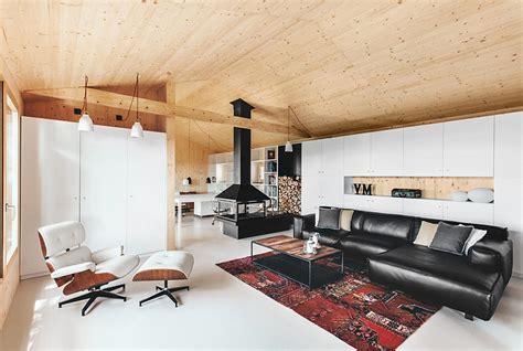esthete home design studio maison moderne en bois design contemporain lambris sol