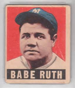 ruth in color the baseball card store july 2010