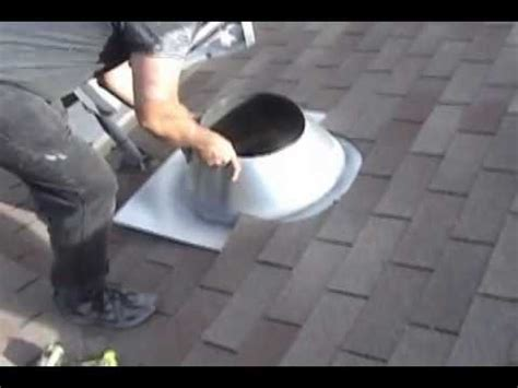 Barn Exhaust Fan How To Install A Chimney Pipe Roof Flashing Youtube