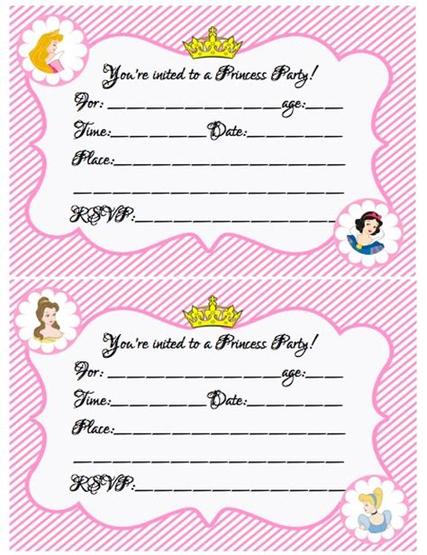 free printable princess birthday invitations create your own princess birthday w free printables
