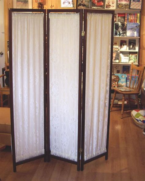 Tri Fold Fabric Room Divider Wood Frame Screen Outside Tri Fold Room Divider