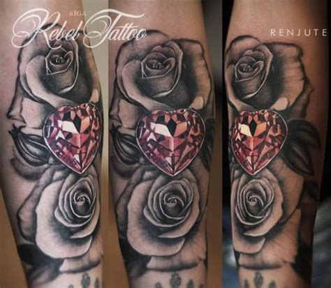 roses and diamonds tattoo 25 best ideas about tattoos on