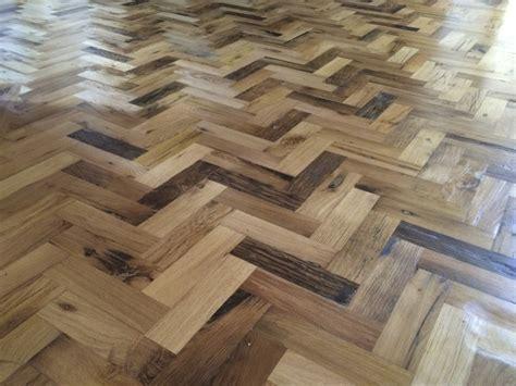 Reclaimed Herringbone Parquet Flooring Project