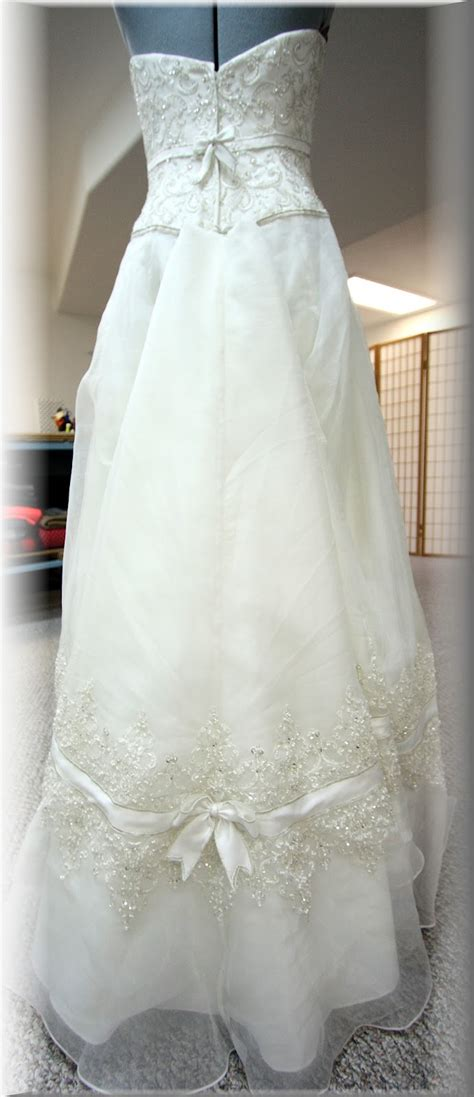 his hers and ours diy wedding gown bustle