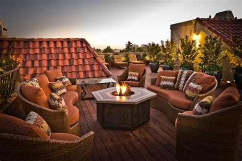 Terracotta Pit Outdoor Deck Ideas With Pit Deck Modern With Built Ins
