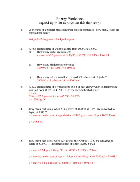 section 3 using heat answers heat of fusion worksheet resultinfos
