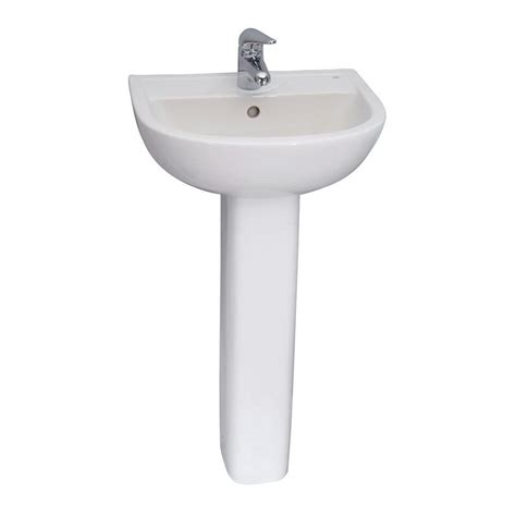 Barclay Pedestal Sink by Barclay Products Compact 550 Pedestal Combo Bathroom Sink